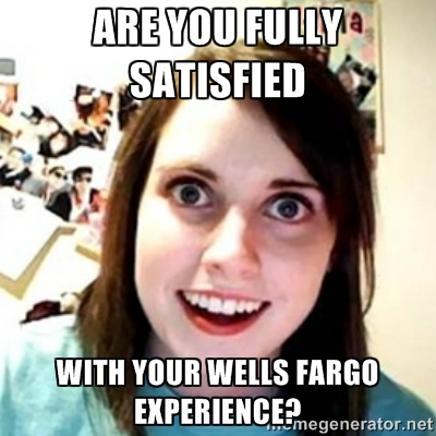 Wells Fargo is the OAG I just can't seem to break upwith